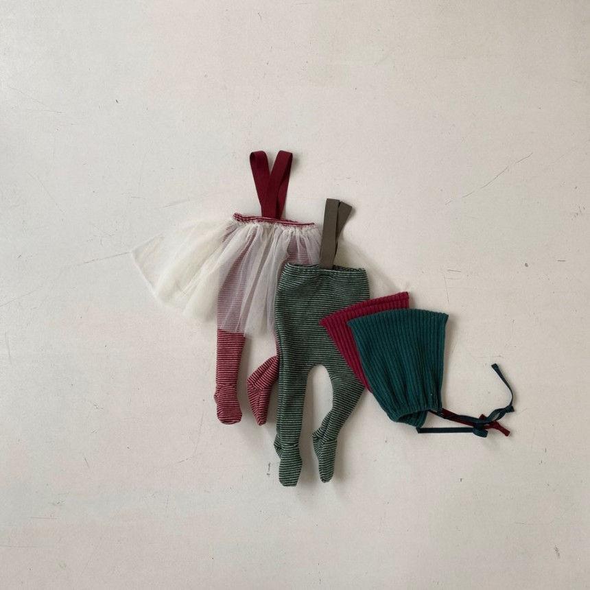 BEBE HOLIC - BRAND - Korean Children Fashion - #Kfashion4kids - Fairy Suspender Leggings with Bonnet