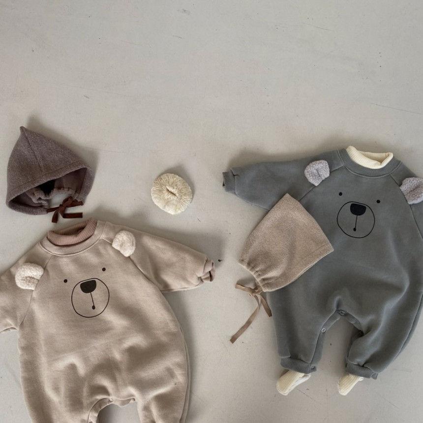BEBE HOLIC - Korean Children Fashion - #Kfashion4kids - Bear Bodysuit - 3