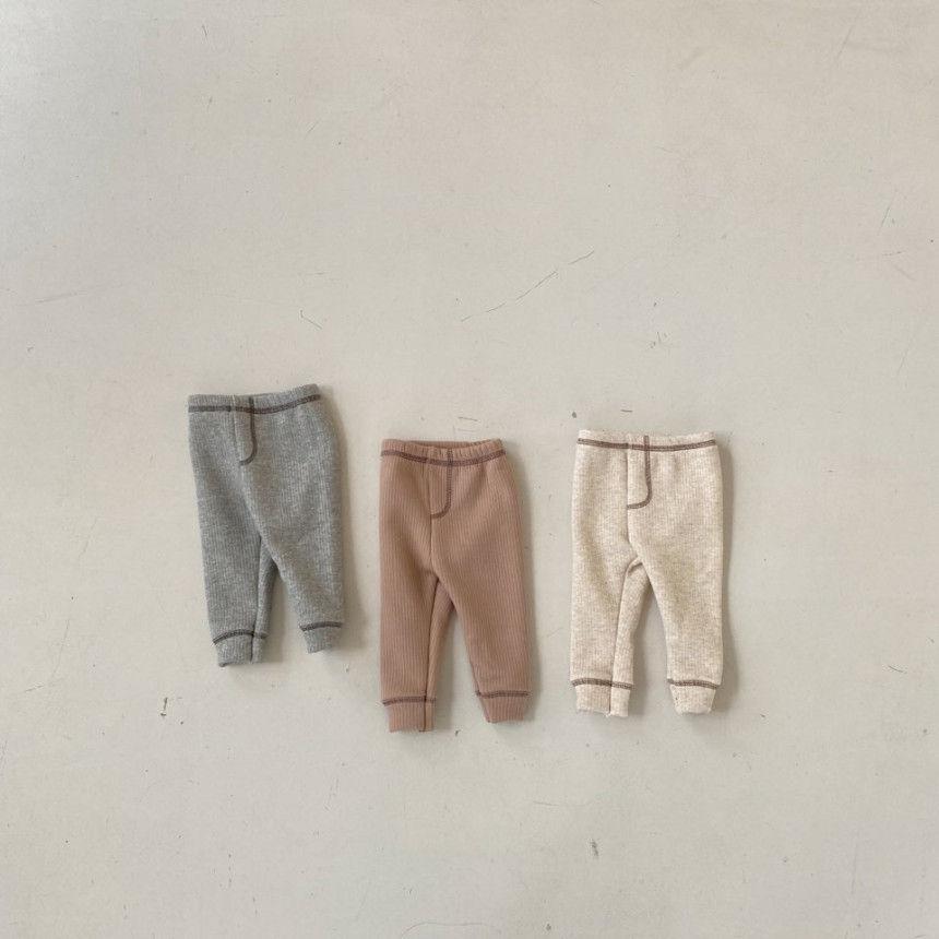 BEBE HOLIC - BRAND - Korean Children Fashion - #Kfashion4kids - Kau Stitch Pants