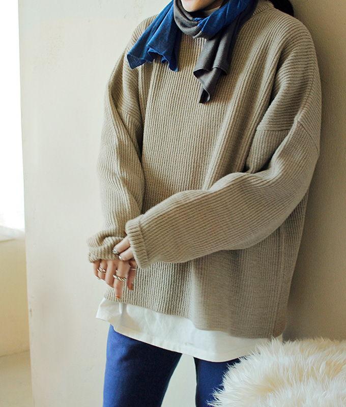 BIEN A BIEN - BRAND - Korean Children Fashion - #Kfashion4kids - Adult Rona Knit Pullover