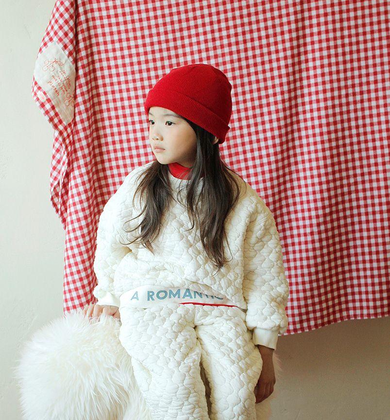 BIEN A BIEN - BRAND - Korean Children Fashion - #Kfashion4kids - Beni Quilting Half Neck Sweatshirt