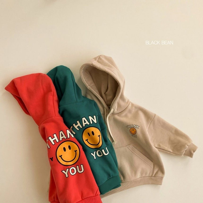 BLACK BEAN - Korean Children Fashion - #Kfashion4kids - Thank You Hood Fleece Sweatshirt