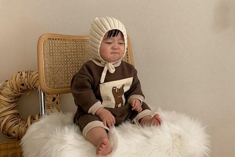BLACK BEAN - BRAND - Korean Children Fashion - #Kfashion4kids - Croiffle Bodysuit