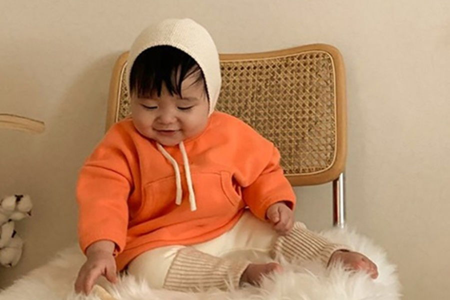 BLACK BEAN - BRAND - Korean Children Fashion - #Kfashion4kids - Bread Bebe Top Bottom Set