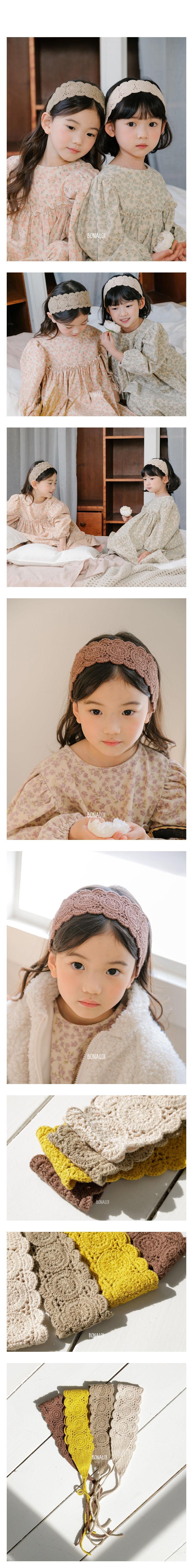 BONALOI - Korean Children Fashion - #Kfashion4kids - Crocher Hairband