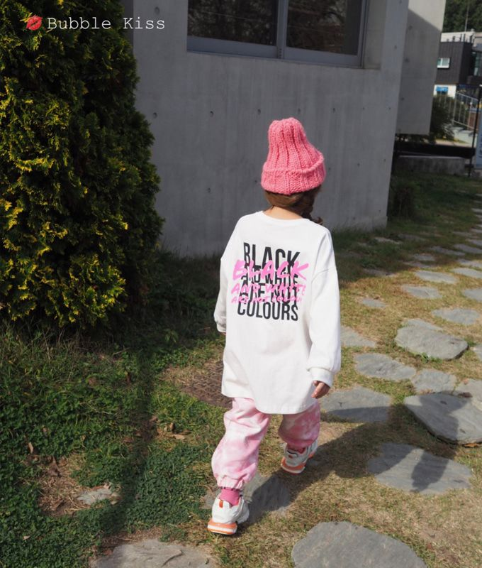 BUBBLE KISS - BRAND - Korean Children Fashion - #Kfashion4kids - Black Long Tee