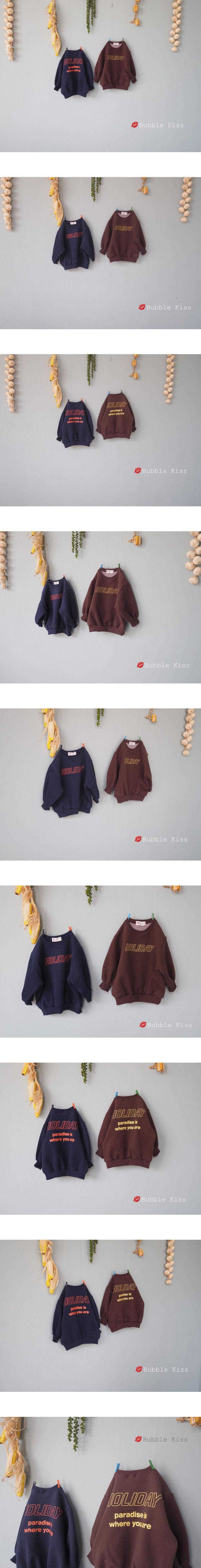 BUBBLE KISS - Korean Children Fashion - #Kfashion4kids - Holiday Fleece Sweatshirt - 2