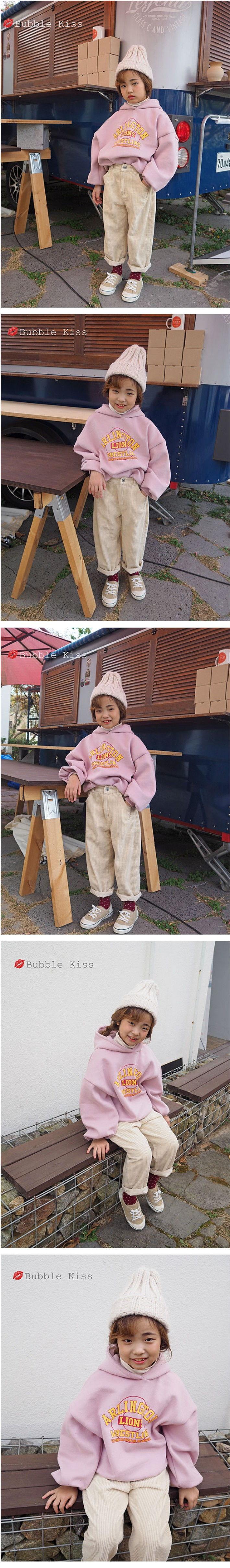 BUBBLE KISS - Korean Children Fashion - #Kfashion4kids - Lions Fleece Hoody - 2