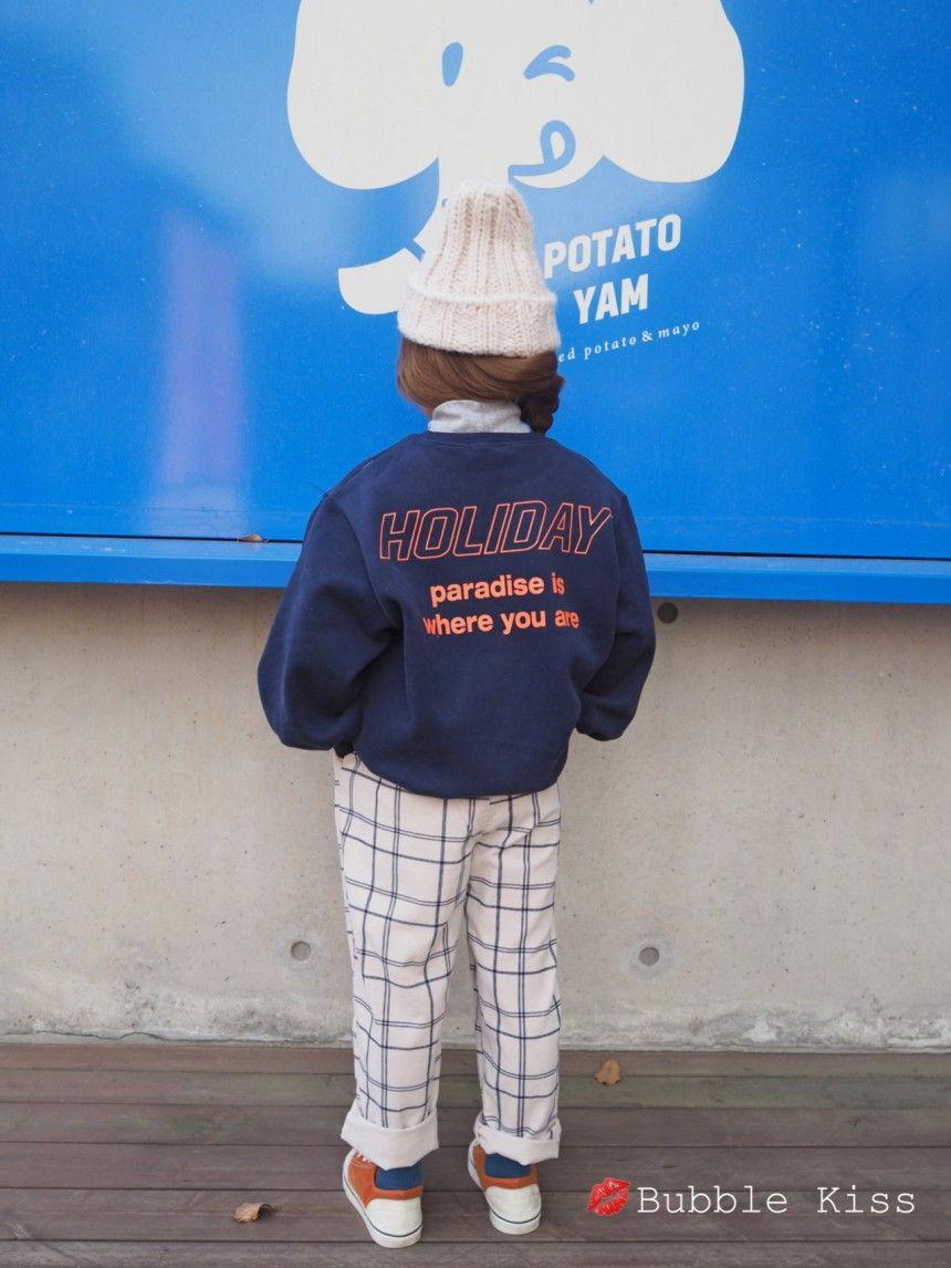 BUBBLE KISS - Korean Children Fashion - #Kfashion4kids - Check Corduroy Pants