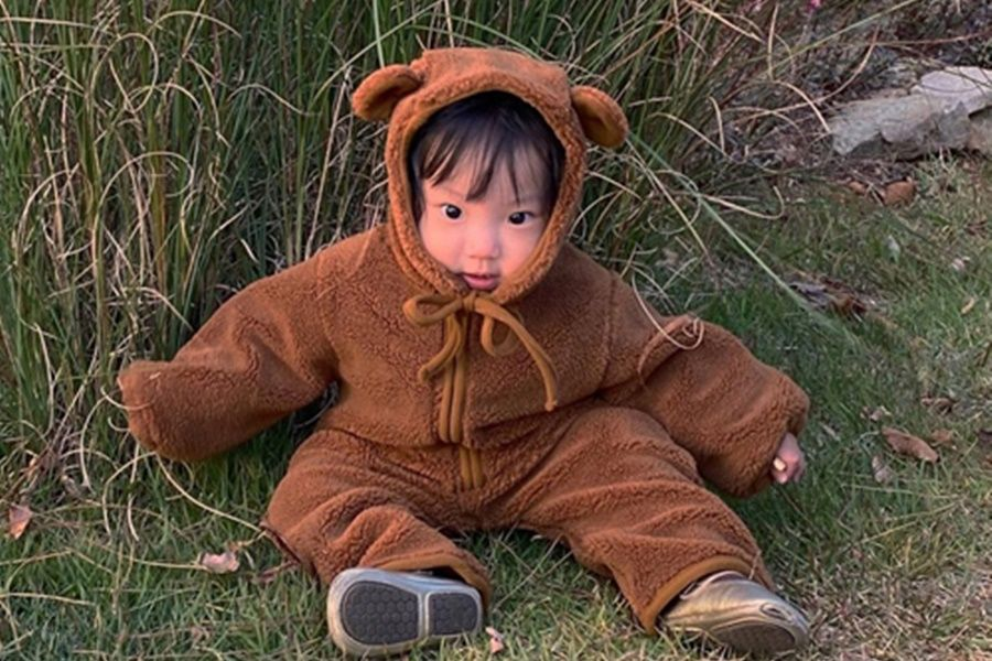 CIEL DE MAMAN - BRAND - Korean Children Fashion - #Kfashion4kids - Bear All-in-one Coveralls with Hat