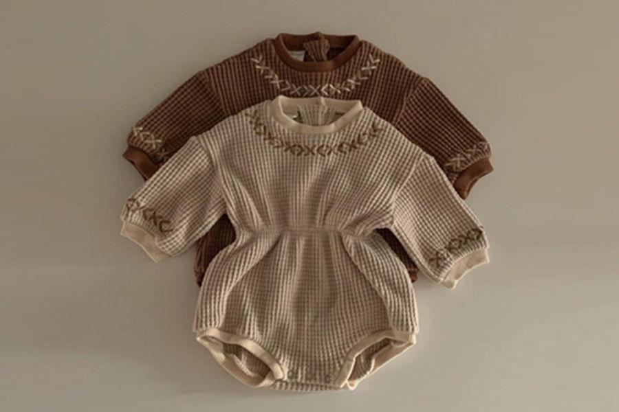 CIEL DE MAMAN - BRAND - Korean Children Fashion - #Kfashion4kids - Coco Bodysuit with Bonnet