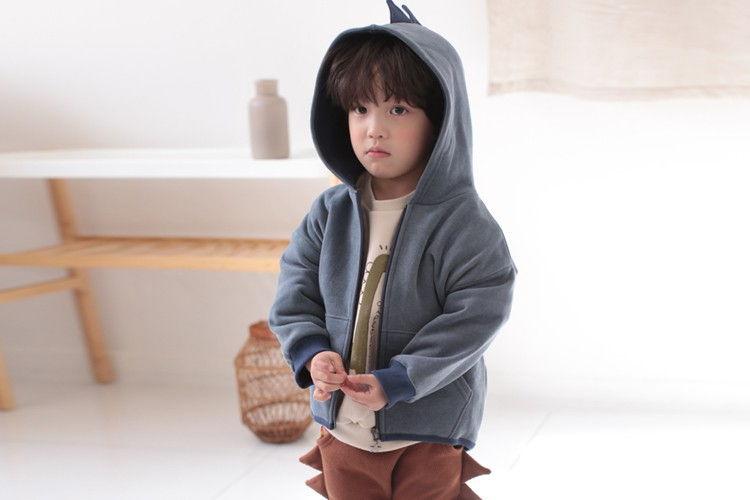 COCO RABBIT - BRAND - Korean Children Fashion - #Kfashion4kids - Dino Zipper Hoody Top