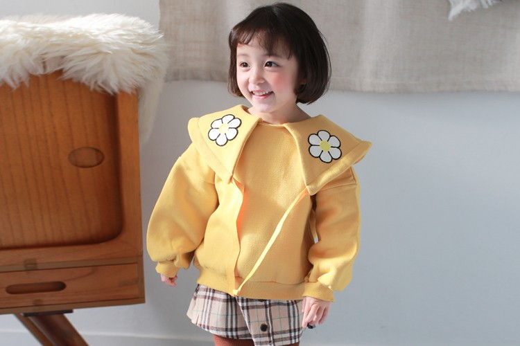 COCO RABBIT - BRAND - Korean Children Fashion - #Kfashion4kids - Daisy Collar Sweatshirt
