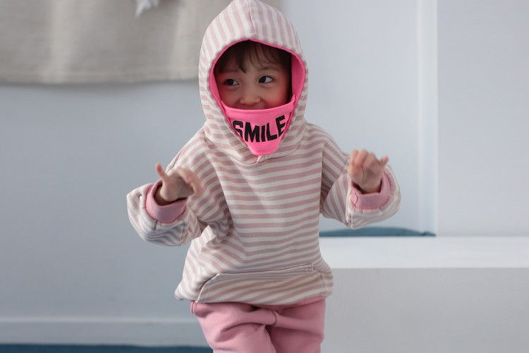 COCO RABBIT - BRAND - Korean Children Fashion - #Kfashion4kids - Mask Stripe Hoody Top
