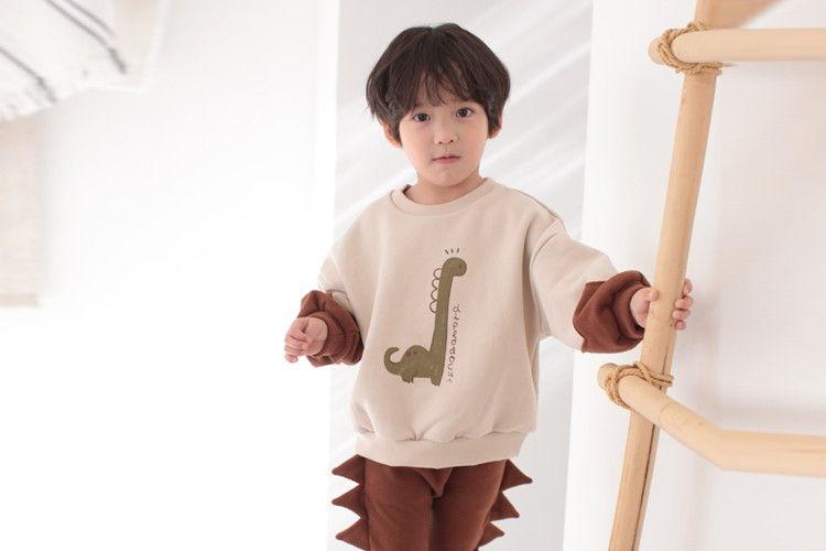 COCO RABBIT - BRAND - Korean Children Fashion - #Kfashion4kids - Dino Colored Sweatshirt