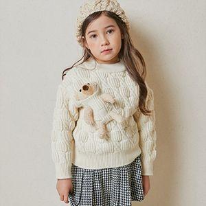 COCO RIBBON - BRAND - Korean Children Fashion - #Kfashion4kids - Bear Pocket Pullover