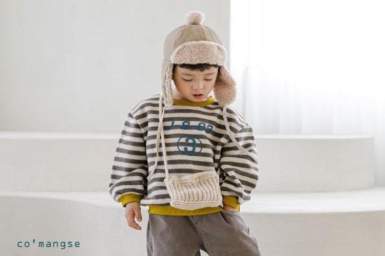 COMMENCER - BRAND - Korean Children Fashion - #Kfashion4kids - 3 Stripe Top