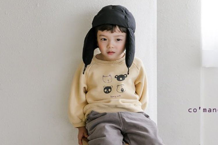COMMENCER - BRAND - Korean Children Fashion - #Kfashion4kids - Fleece Bear Sweatshirt