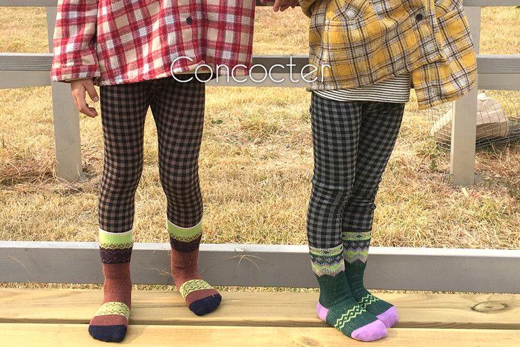 CONCOCTER - BRAND - Korean Children Fashion - #Kfashion4kids - Check Mink Leggings