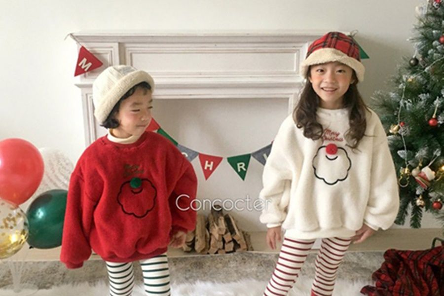 CONCOCTER - BRAND - Korean Children Fashion - #Kfashion4kids - Santa Boa Pullover
