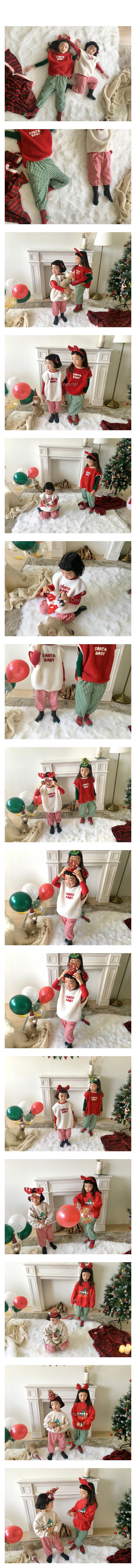 CONCOCTER - Korean Children Fashion - #Kfashion4kids - Check Sausage Pants