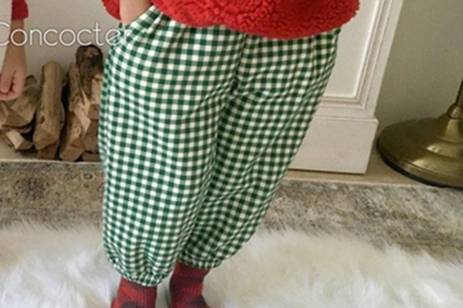 CONCOCTER - BRAND - Korean Children Fashion - #Kfashion4kids - Check Sausage Pants