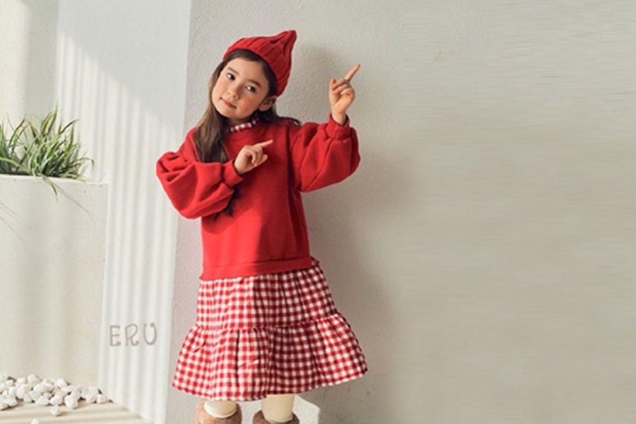 E.RU - BRAND - Korean Children Fashion - #Kfashion4kids - Check One-piece
