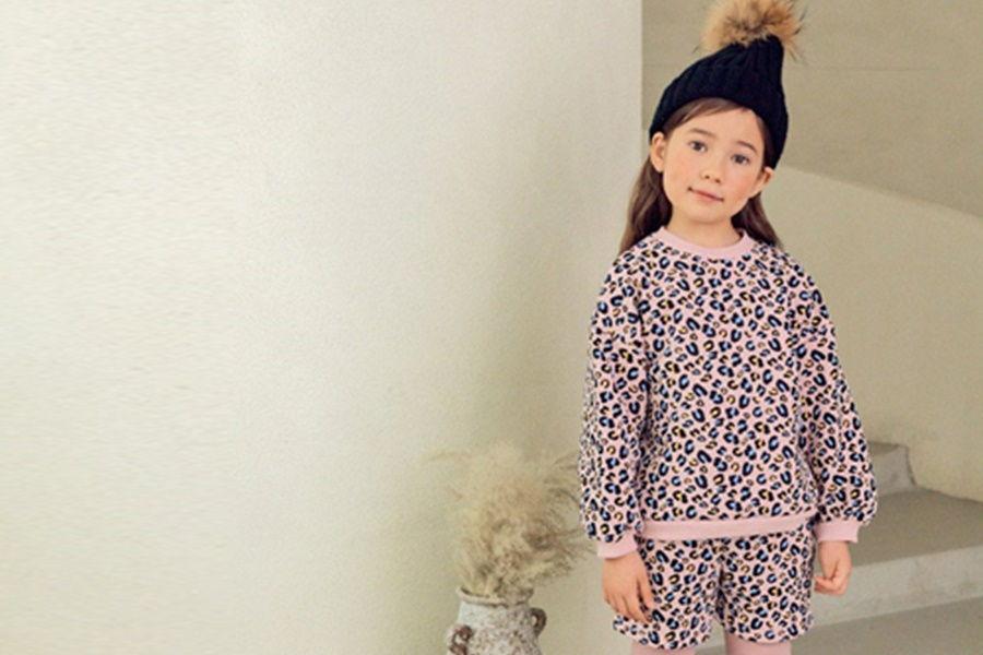 E.RU - BRAND - Korean Children Fashion - #Kfashion4kids - SP Leopard Top Bottom Set