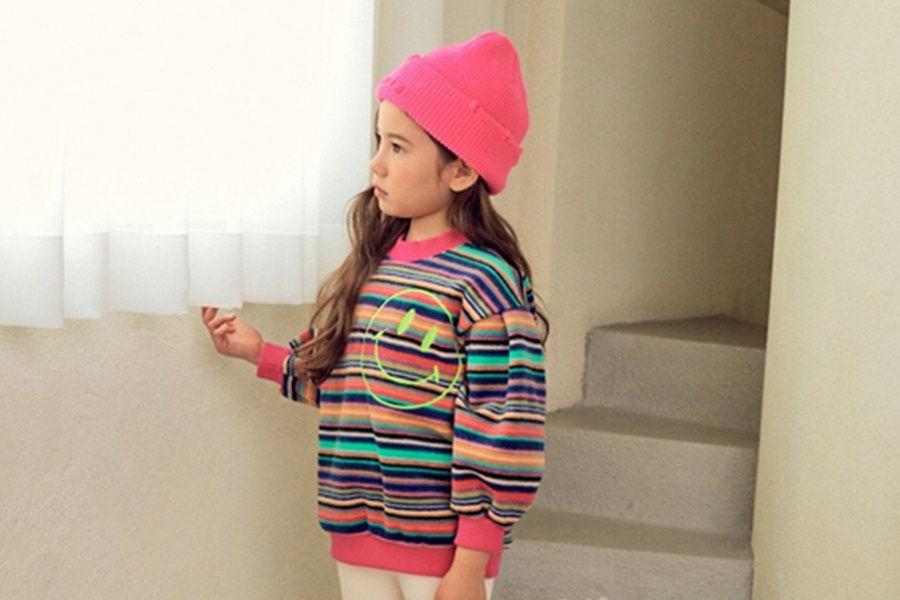 E.RU - BRAND - Korean Children Fashion - #Kfashion4kids - Neon Smile Pullover