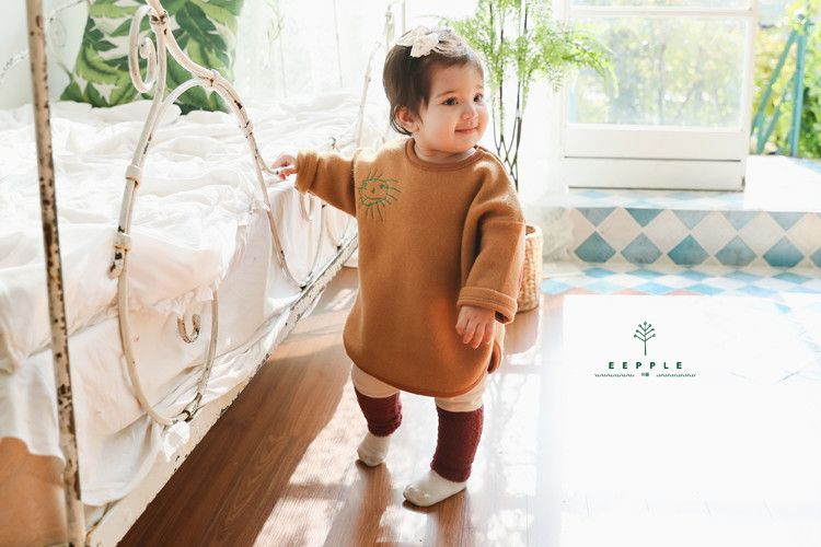 EEPPLE - BRAND - Korean Children Fashion - #Kfashion4kids - Patch Long Tee
