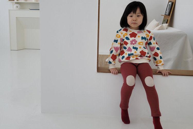 EEPPLE - BRAND - Korean Children Fashion - #Kfashion4kids - Rib Patch Leggings