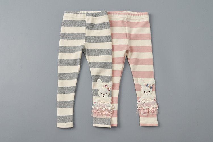 JAM - BRAND - Korean Children Fashion - #Kfashion4kids - Stripe Rabbit Leggings