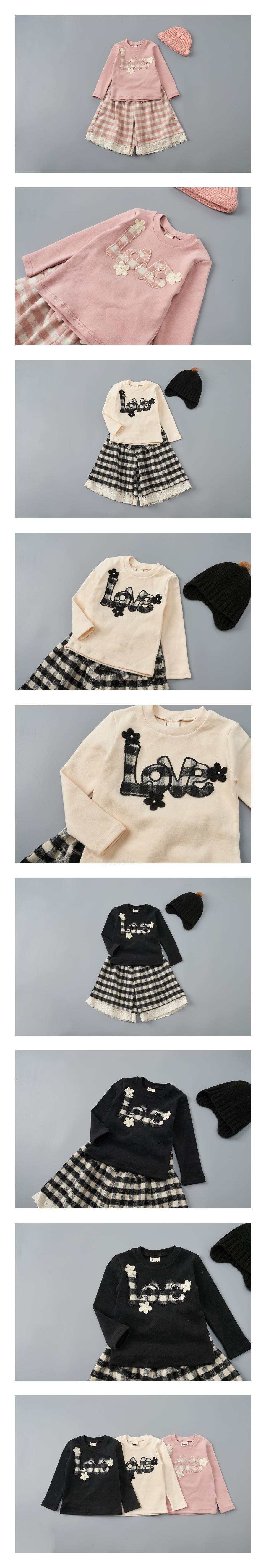 JAM - Korean Children Fashion - #Kfashion4kids - Love Tee