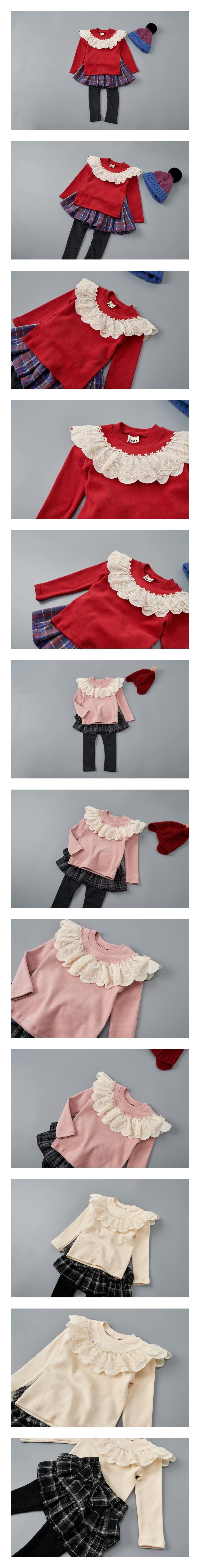 JAM - Korean Children Fashion - #Kfashion4kids - Lace Ribbon Tee