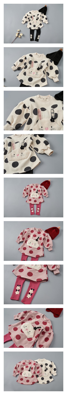 JAM - Korean Children Fashion - #Kfashion4kids - Big Dot Rabbit One-piece