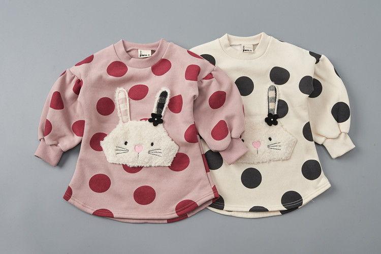 JAM - BRAND - Korean Children Fashion - #Kfashion4kids - Big Dot Rabbit One-piece