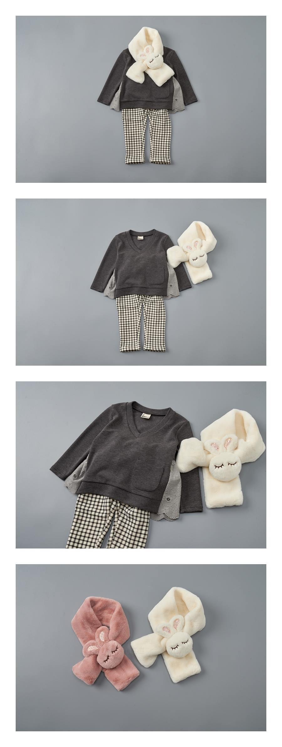 JAM - Korean Children Fashion - #Kfashion4kids - Big Rabbit Muffler