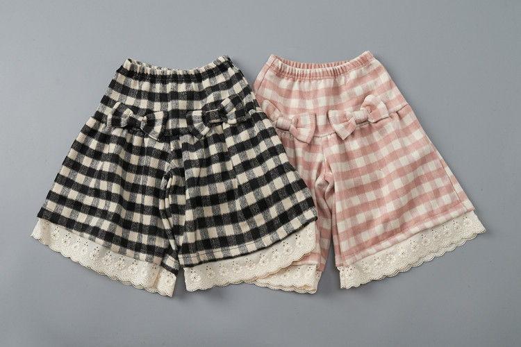 JAM - BRAND - Korean Children Fashion - #Kfashion4kids - Check Ribbon Pants
