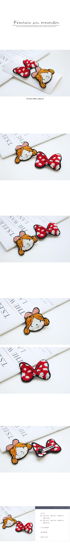 JIREH BOW - Korean Children Fashion - #Kfashion4kids - Ppippi Ribbon Hairpin [set of 2]
