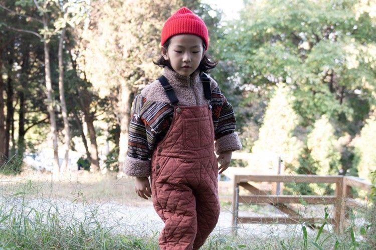 KURENARD - BRAND - Korean Children Fashion - #Kfashion4kids - Quilting Suspender Pants