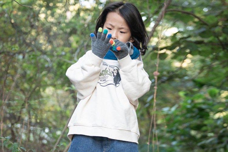 KURENARD - BRAND - Korean Children Fashion - #Kfashion4kids - Zack Half Turtleneck Sweatshirt