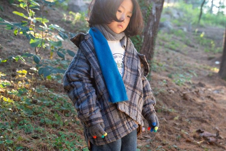 KURENARD - BRAND - Korean Children Fashion - #Kfashion4kids - Check Over Bonding Shirt