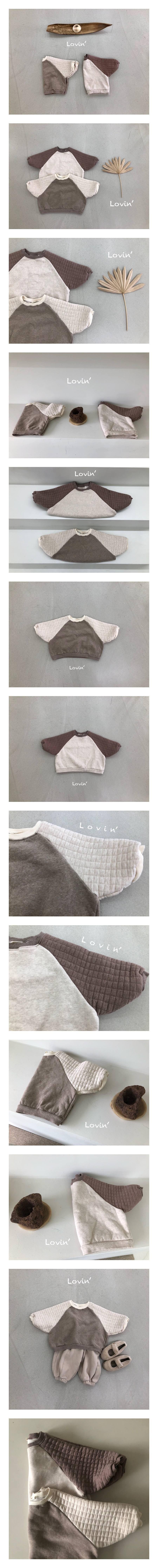 LOVIN - Korean Children Fashion - #Kfashion4kids - Quilting Raglan Pullover