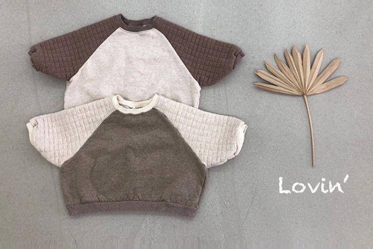 LOVIN - BRAND - Korean Children Fashion - #Kfashion4kids - Quilting Raglan Pullover