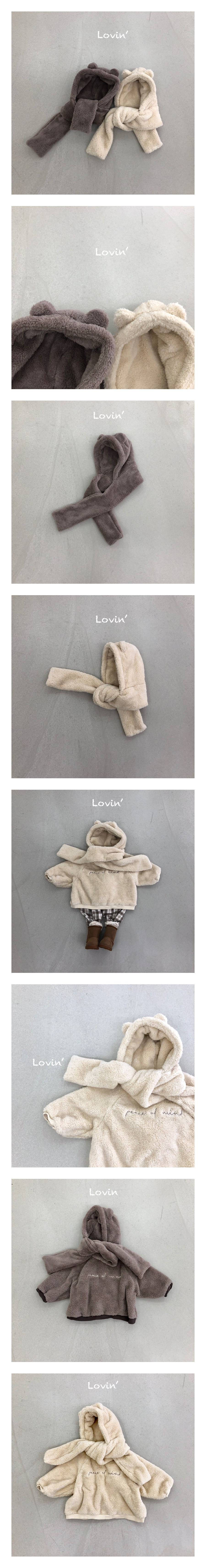 LOVIN - Korean Children Fashion - #Kfashion4kids - Muffler Hood