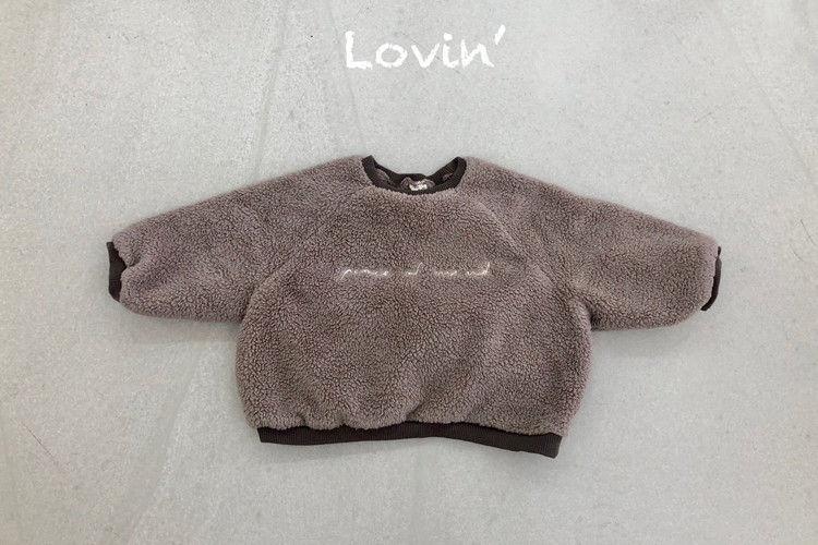 LOVIN - BRAND - Korean Children Fashion - #Kfashion4kids - Moco Embroidery Dumble Pullover