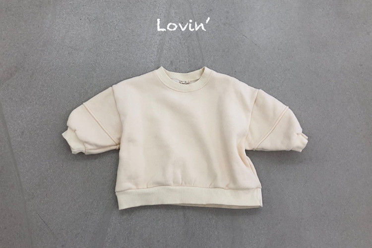 LOVIN - BRAND - Korean Children Fashion - #Kfashion4kids - Slit Sweatshirt