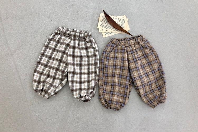 LOVIN - BRAND - Korean Children Fashion - #Kfashion4kids - Check Pants