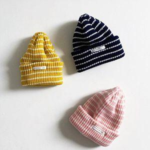 MINI ROBE - BRAND - Korean Children Fashion - #Kfashion4kids - Stripe Knit Beanie
