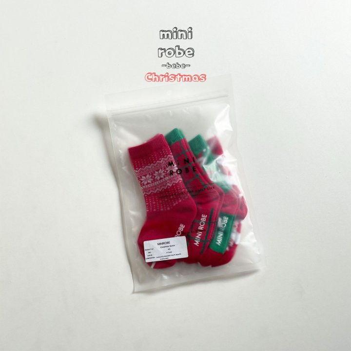 MINI ROBE - Korean Children Fashion - #Kfashion4kids - Santa Bebe Socks [set of 4] - 12